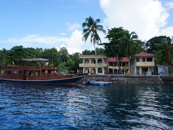 Banda Blick auf Baba Lagoon