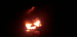 Screenshot: Die Waow lichterloh brennend