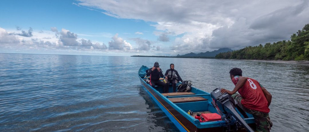 Altes Tauchboot der Nakaela Lodge