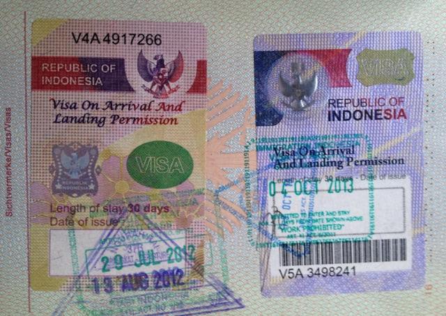 Indonesisches Einreisevisum