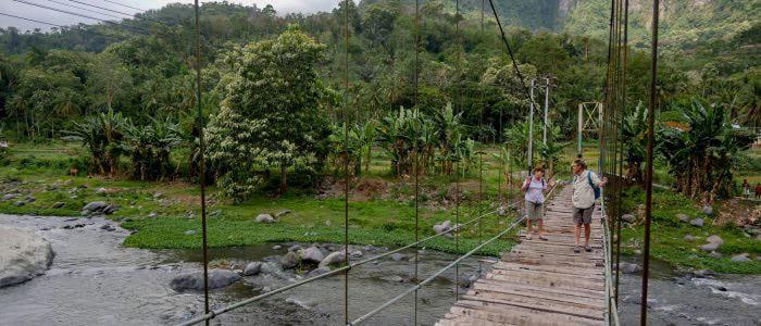 Hängebrücke am Flores Highway