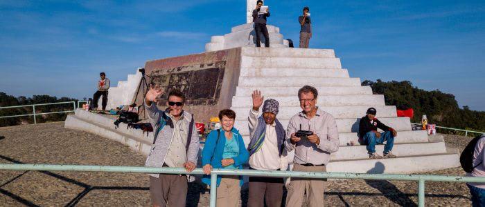 Kelimutu, das Denkmal auf dem Gipfel