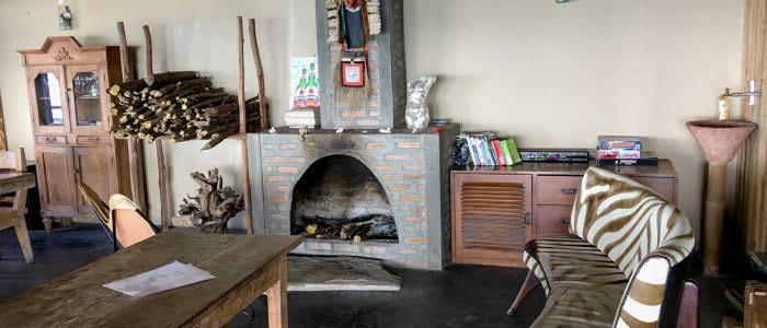 Manulalu Restaurant, Kaminecke