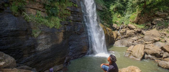 Wasserfall in der Nähe von Ruteng, Flores