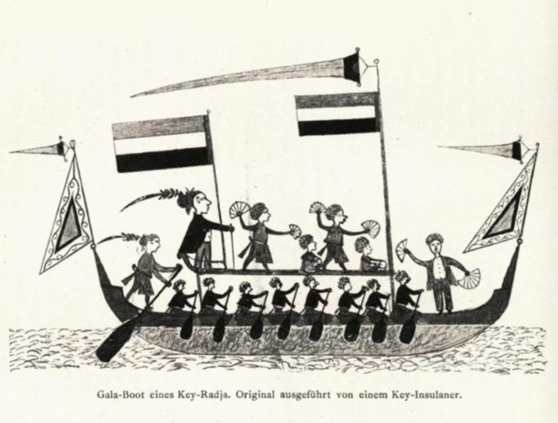 Zermonialschiff von den Kei Inseln um 1880