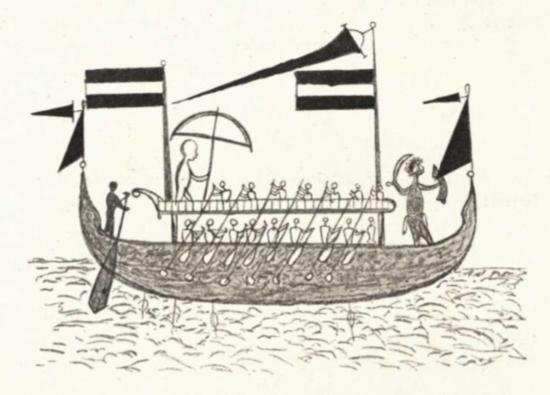 Schiff von den Kei Inseln um 1880