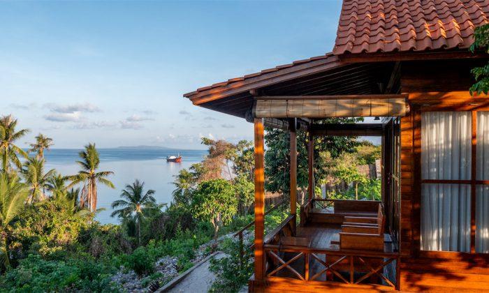 Marind Dive Resort Blick von Terrasse