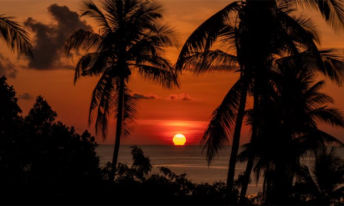 Sonnenuntergang in Tomia
