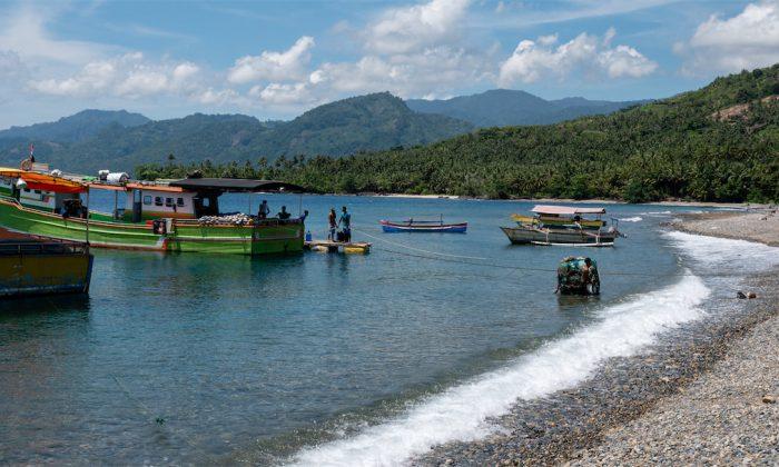 Bucht mit Fischerbooten