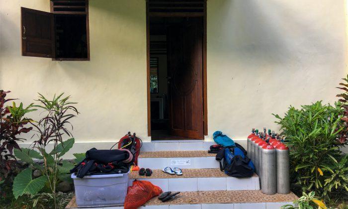 Bogani Homestay Eingang zum Gästehaus