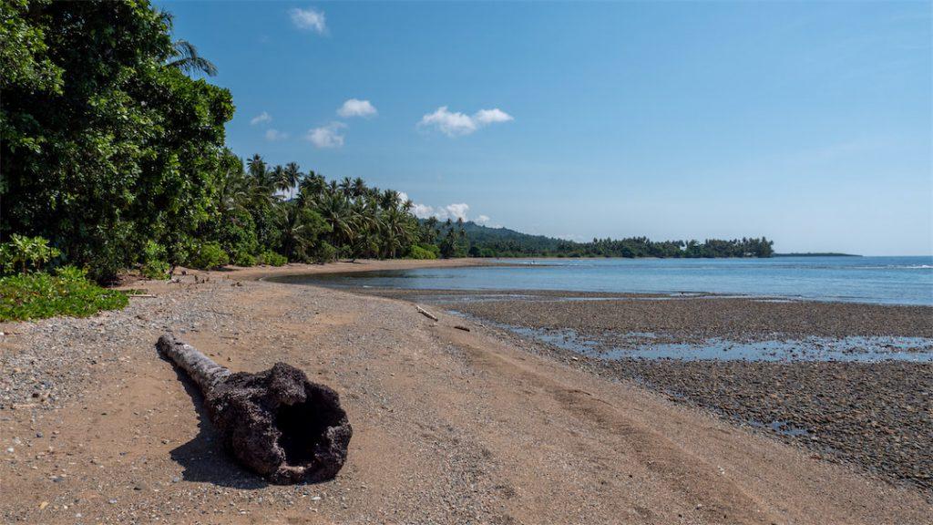 Strandabschnitt des Bogani Homestays