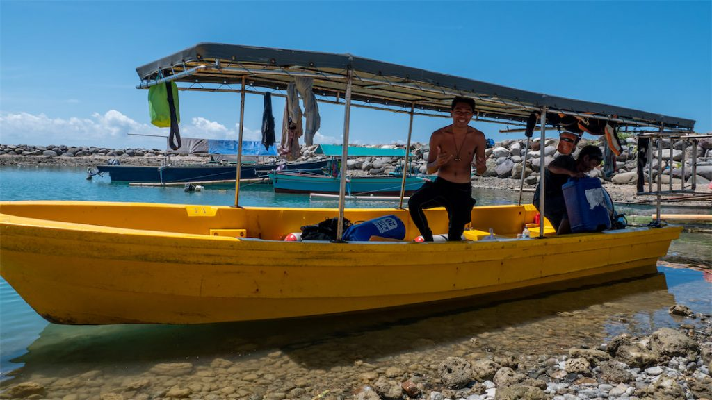 Tauchboot mit Guide und Kapitän