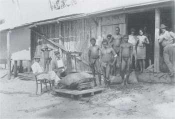 Copra Anlieferung in Papua Neuguinea