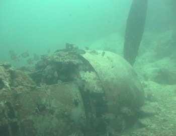 Flugzeugwrack in Kavieng, Papua Neuguinea