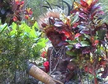 Papua in Festbekleidung, Papua Neuguinea